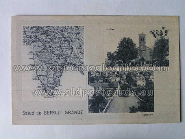 istra mapa Stare Razglednice / Old Postcards   bergut grande 246 veliki brgat  istra mapa